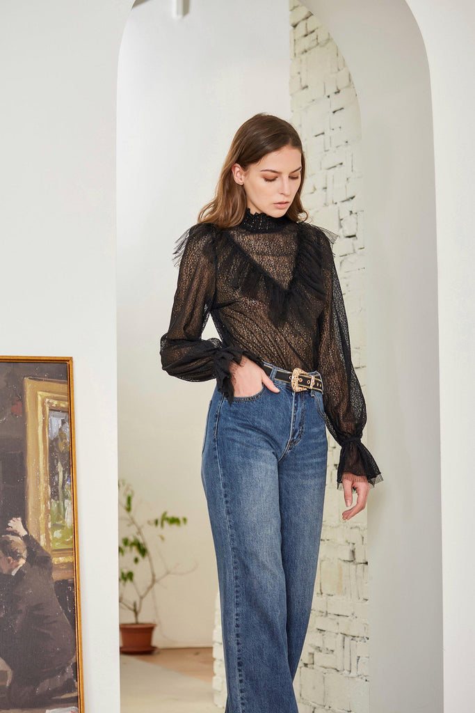 FLOATING TIME LACE BLOUSE - My Dearest
