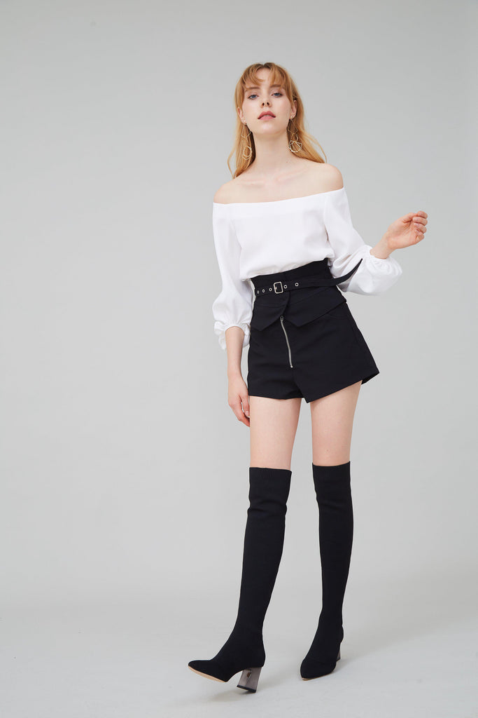 SOULMATE STRETCH-KNIT OVER-THE-KNEE BOOTS-SHOES-My Dearest