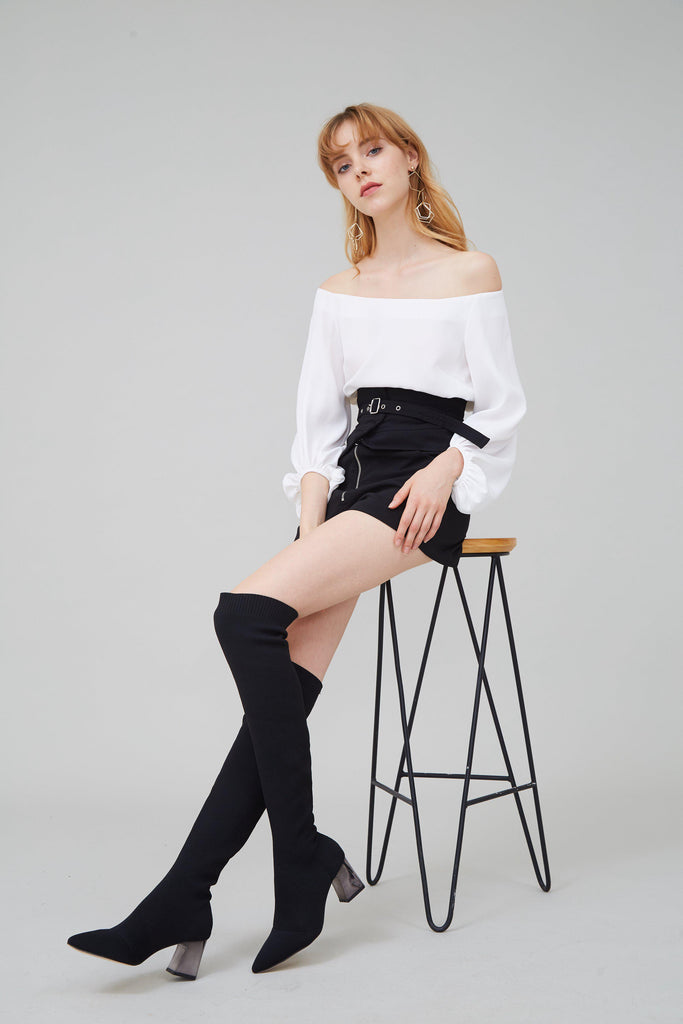 SOULMATE STRETCH-KNIT OVER-THE-KNEE BOOTS - My Dearest