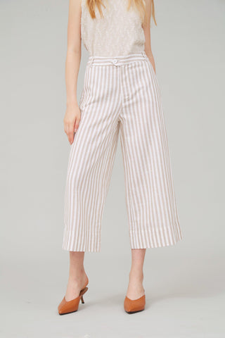 ROAD TRIP STRIPED LINEN WIDE-LEG PANTS - My Dearest