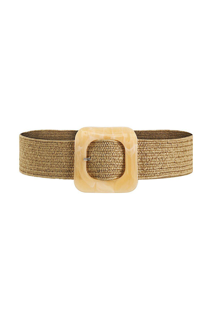 VACATION HOURS WOVEN BELT - BROWN