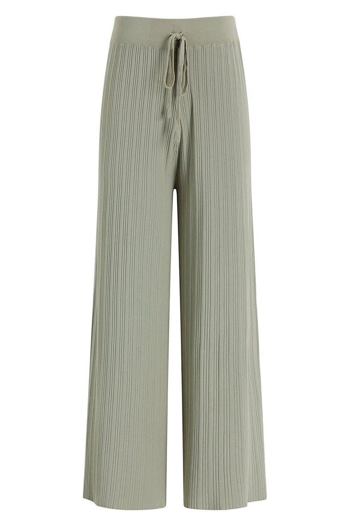 VACAY STYLE STRETCH KNIT PANTS - GREEN