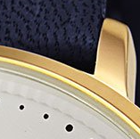 Swatch: Blue Strap with Gold