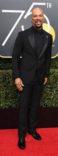 Common wearing the Carlos shoe at the Golden Globe Awards