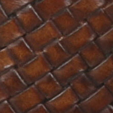 Swatch: Cognac/Dark Brown Woven Leather