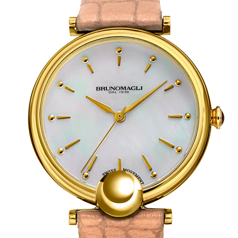 Miranda 1021 Watch, Blush Pink Strap