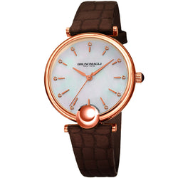 Miranda 1021 Watch, Dark Brown Strap