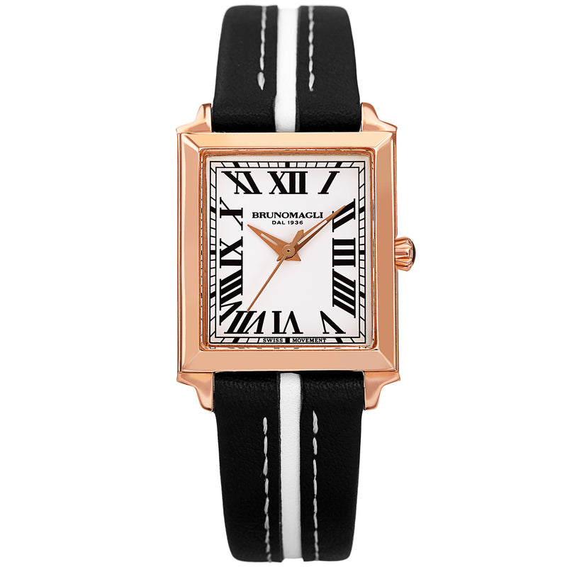 Women's Valentina Watch - Black/White & Rose Gold