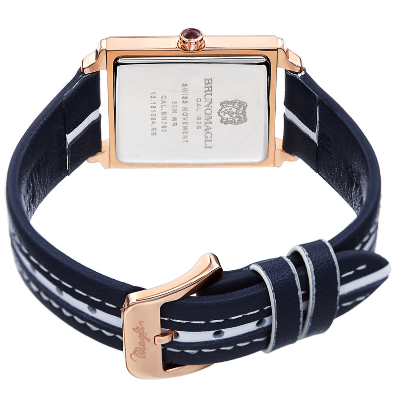 Women's Valentina Watch - Blue/White & Rose Gold