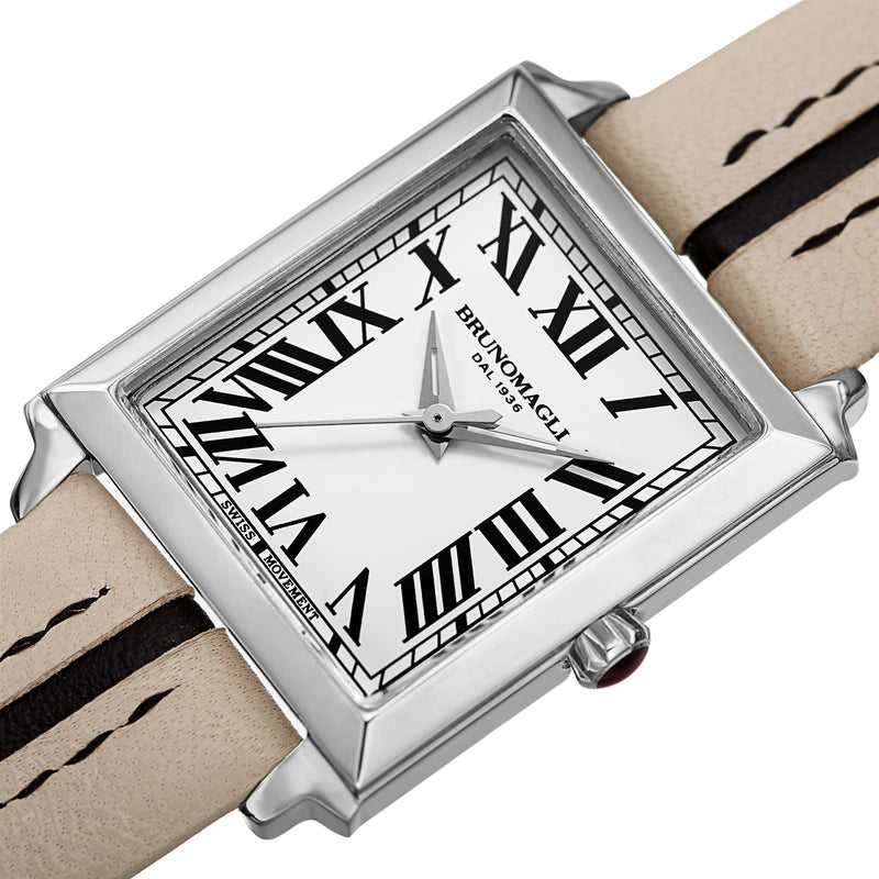 Women's Valentina Watch - Taupe/Black & Silver