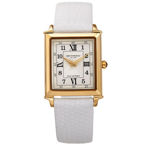 Women's Valentina Romana Watch - Gold-Tone/White