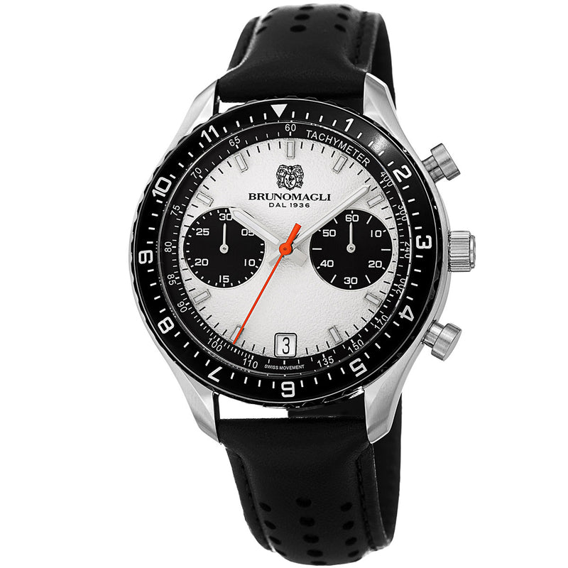 Marco 1081 Chronograph Watch, Black Strap