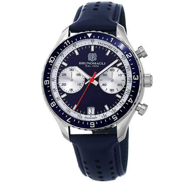 Marco 1081 Chronograph Watch, Blue Strap