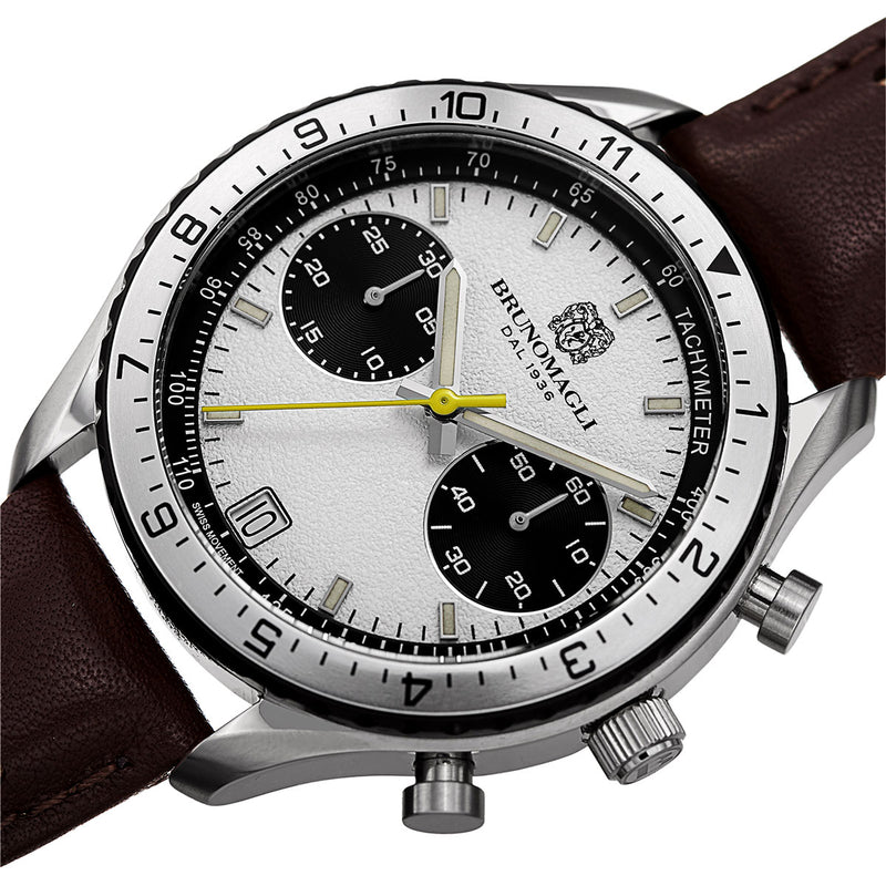 Marco 1081 Chronograph Watch, Dark Brown Strap
