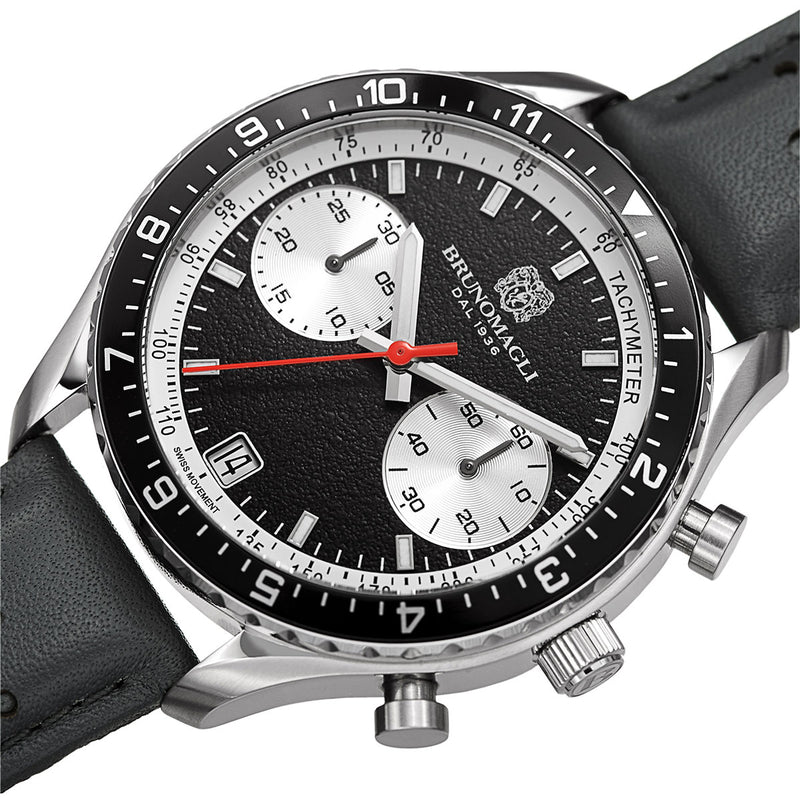 Marco 1081 Chronograph Watch, Grey Strap