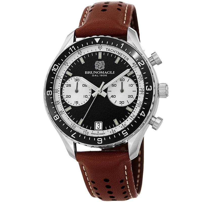 Marco 1081 Chronograph Watch, Brown Strap