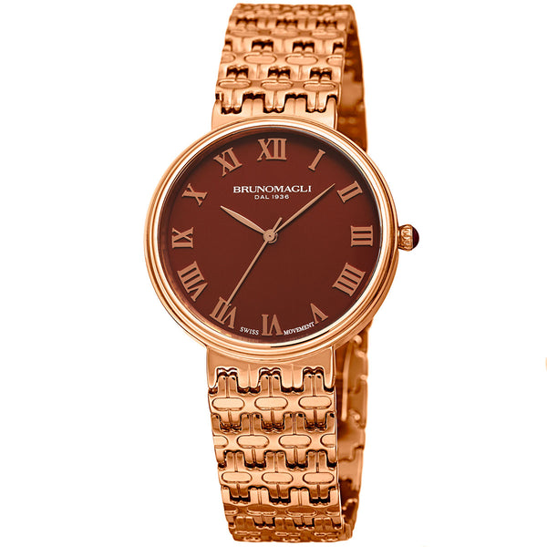 Isabella 1101 Watch, Dark Brown Dial