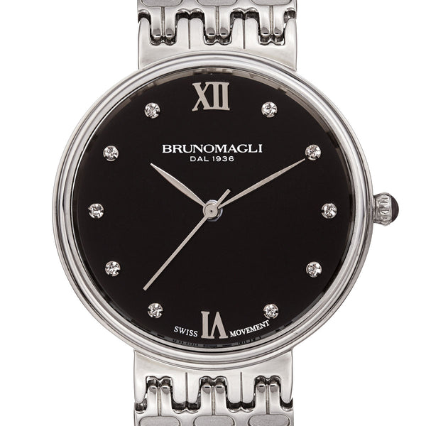 Isabella 1101 Watch, Black Dial
