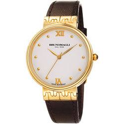 Isabella 1102 Watch, Dark Brown Strap