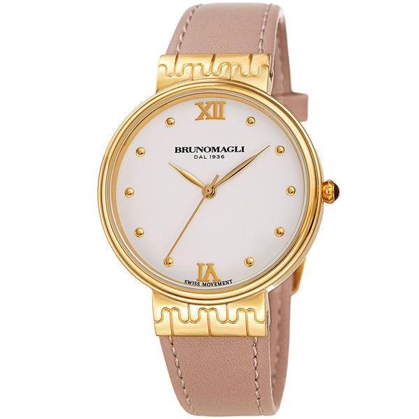 Isabella 1102 Watch, Pale Pink Strap