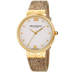 Isabella 1102 Watch, Metallic Taupe Strap