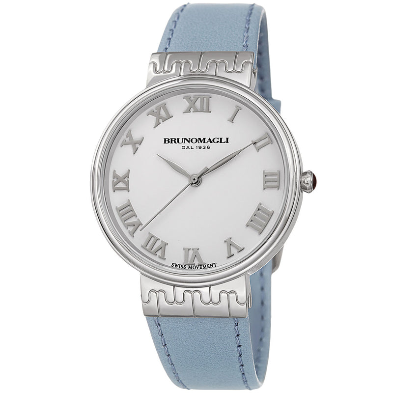 Isabella 1102 Watch, Light Blue Strap