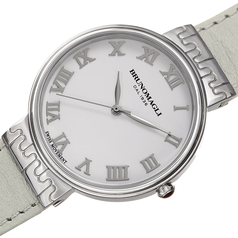 Isabella 1102 Watch, Off-White Strap