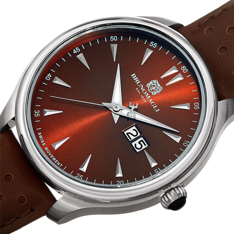 Luca 1121 Watch, Brown Dial