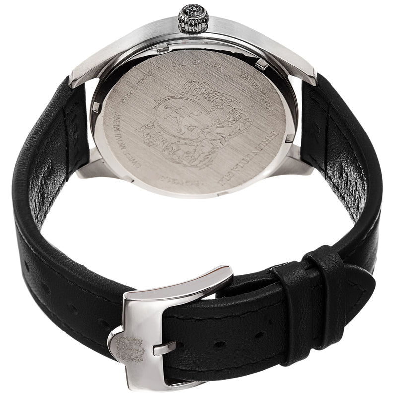 Men's Luca Pelle Watch - Silver-Tone/Black