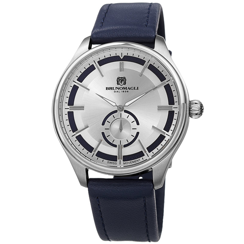 Men's Luca Pelle Watch - Silver-Tone/Blue