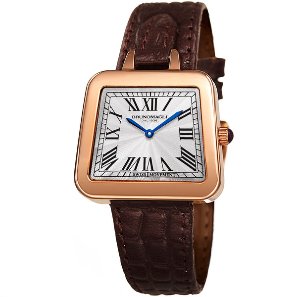 Emma 1141 Watch, Dark Brown Strap