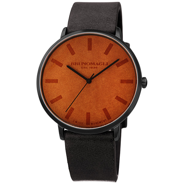 Men's Roma Watch - Brown Dial with Black Strap