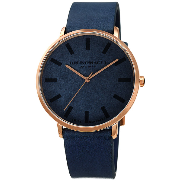 Men's Roma Watch - Dark Blue & Rose Gold