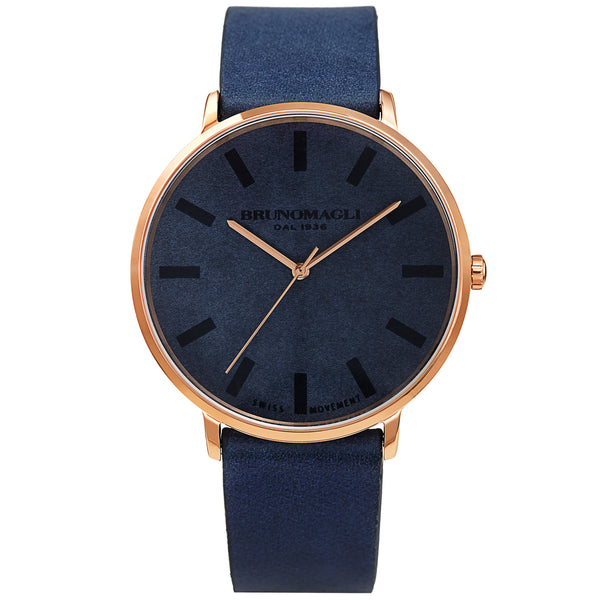 1716d3132 ... Men's Roma Watch - Dark Blue & Rose Gold. On sale