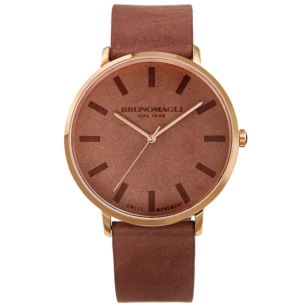 eab21150a ... Men's Roma Watch - Dark Brown & Rose Gold. On sale