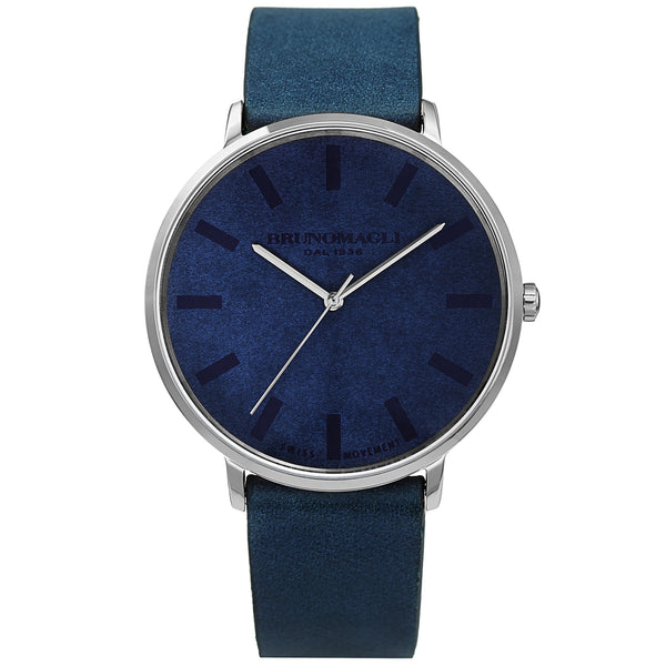 Men's Roma Watch - Blue & Silver