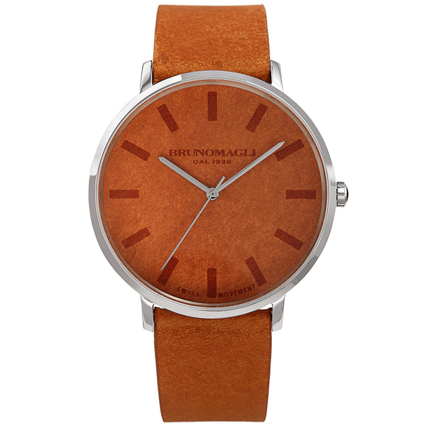 Men's Roma Watch - Tan & Silver