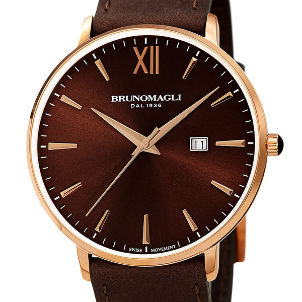 Roma 1161 Watch, Bordeaux Dial