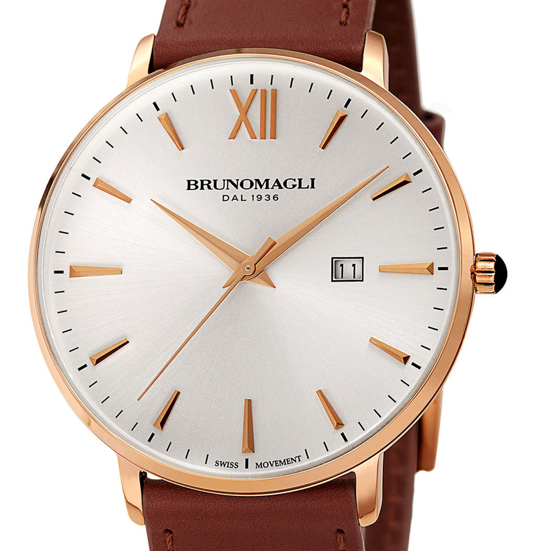 Roma 1161 Watch, Brown Strap
