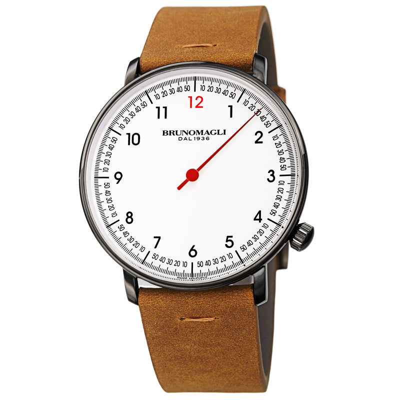 Men's Roma Watch - Gunmetal/Tan