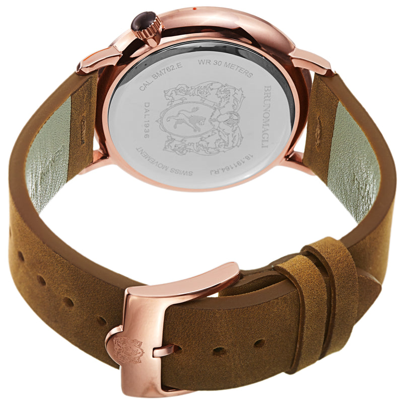 Men's Roma Watch - Rose Gold-Tone/Camel