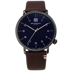 Men's Roma Watch - Gunmetal/Dark Brown