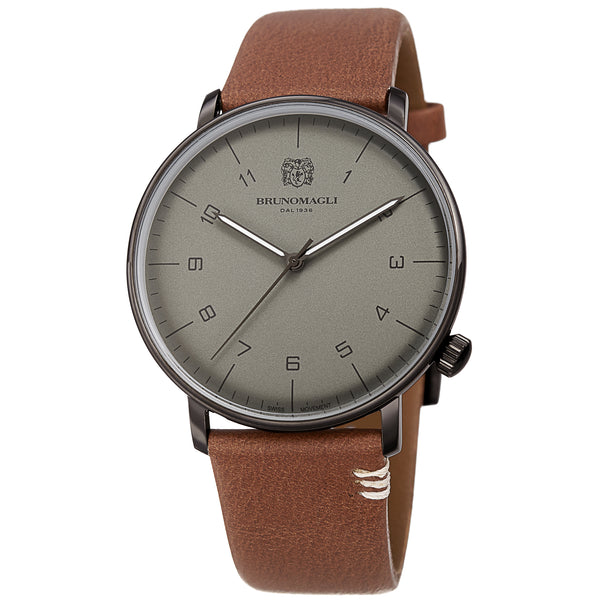 Men's Roma Watch - Gunmetal/Brown
