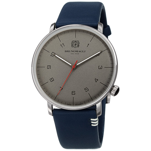 Men's Roma Watch - Silver-Tone/Blue