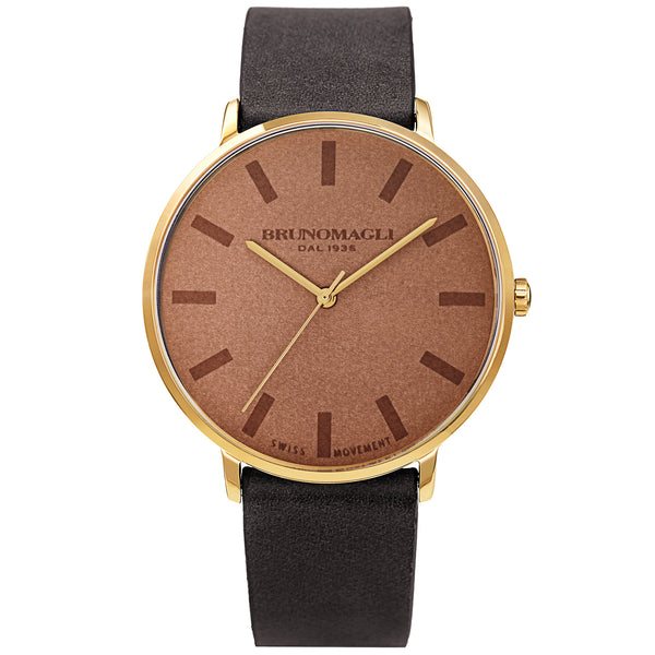 Men's Roma Watch - Black & Gold