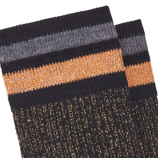Women's Chapo Striped Socks - Black/Gold