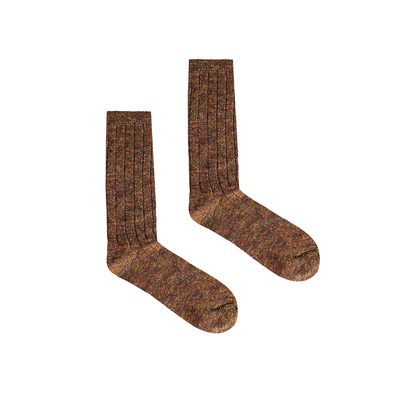 Women's Maracana Glitter Socks - Brown