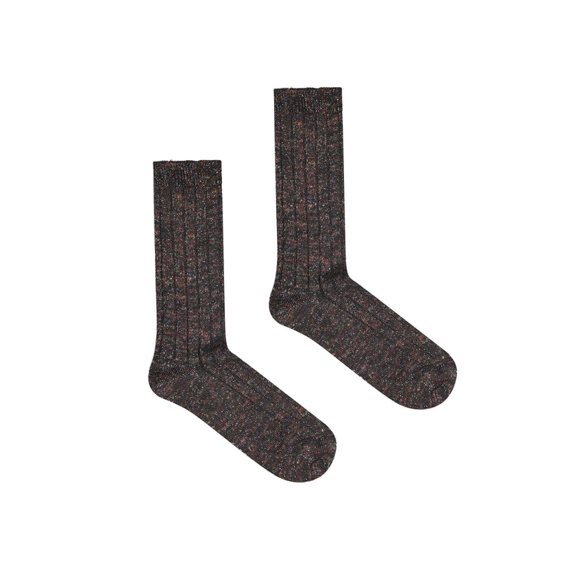 Women's Maracana Glitter Socks - Black