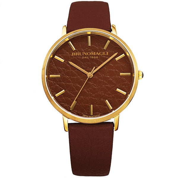 Women's Roma Watch - Brown & Gold