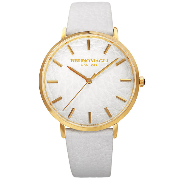 Women's Roma Watch - White & Gold